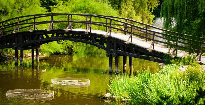 Pont traversant une rivière